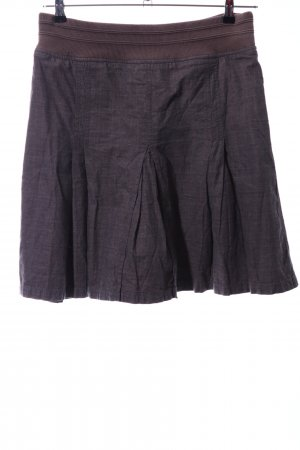 Hilfiger Denim Flared Skirt lilac-brown check pattern casual look