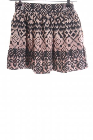 Hilfiger Denim Flared Skirt black-nude graphic pattern casual look