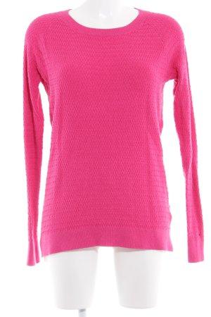 Hilfiger Denim Häkelpullover pink Webmuster schlichter Stil