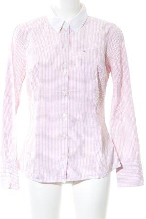 Hilfiger Denim Hemd-Bluse weiß-pink Karomuster Business-Look