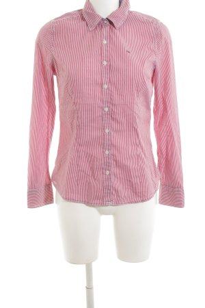Hilfiger Denim Hemd-Bluse rot-weiß Streifenmuster Business-Look