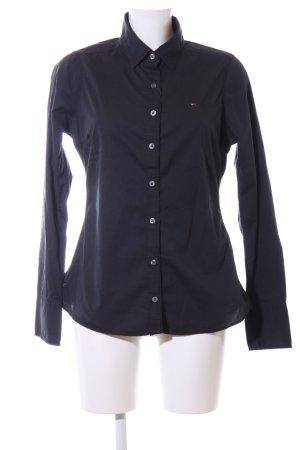 Hilfiger Denim Hemd-Bluse schwarz Business-Look