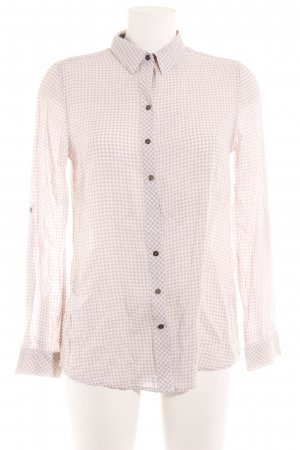 Hilfiger Denim Hemd-Bluse beige-weiß Karomuster Business-Look