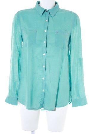 Hilfiger Denim Hemd-Bluse blassblau Casual-Look