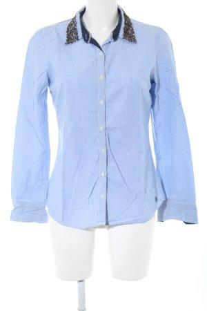 Hilfiger Denim Hemd-Bluse blau Business-Look