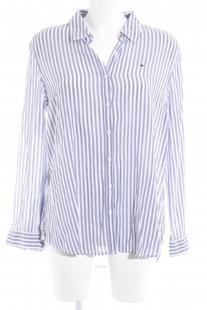 Hilfiger Denim Hemd-Bluse blau-weiß Streifenmuster Business-Look