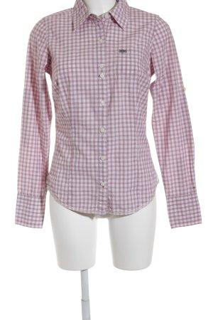 Hilfiger Denim Hemd-Bluse braunrot-wollweiß Karomuster klassischer Stil