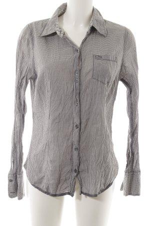 Hilfiger Denim Hemd-Bluse grau-weiß Karomuster Casual-Look