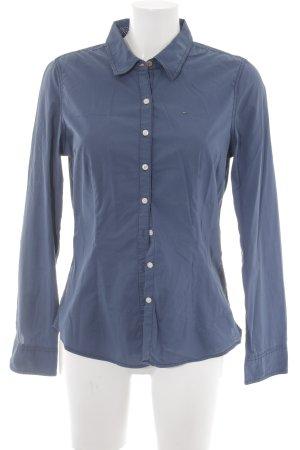 Hilfiger Denim Hemd-Bluse graublau schlichter Stil
