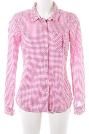 Hilfiger Denim Hemd-Bluse rosa-weiß Karomuster Casual-Look