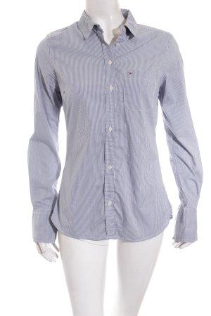 Hilfiger Denim Hemd-Bluse weiß-blau Streifenmuster Business-Look