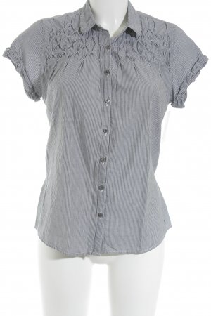 Hilfiger Denim Hemd-Bluse weiß-grau Streifenmuster Business-Look