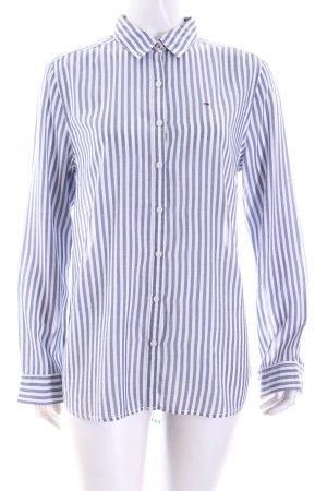 Hilfiger Denim Hemd-Bluse weiß-hellblau Streifenmuster Casual-Look