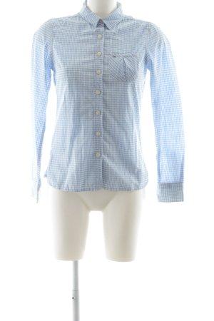 Hilfiger Denim Hemd-Bluse weiß-himmelblau florales Muster Casual-Look