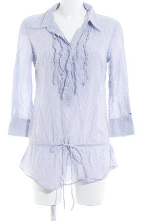 Hilfiger Denim Hemd-Bluse weiß-kornblumenblau Streifenmuster