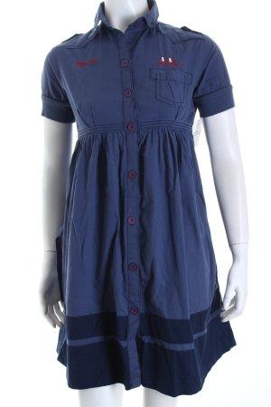 Hilfiger Denim Hemdblusenkleid stahlblau-dunkelblau Casual-Look
