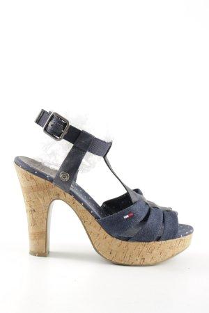 Hilfiger Denim High Heel Sandal blue casual look