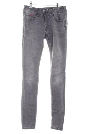 Hilfiger Denim Hoge taille jeans lichtgrijs casual uitstraling