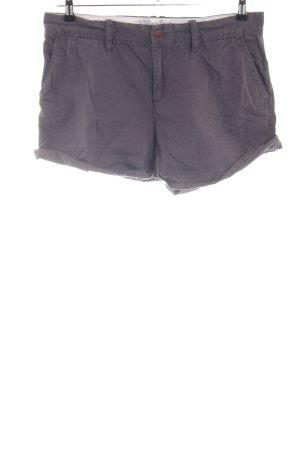Hilfiger Denim High-Waist-Shorts hellgrau Casual-Look