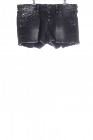 Hilfiger Denim Hot Pants schwarz Used-Optik
