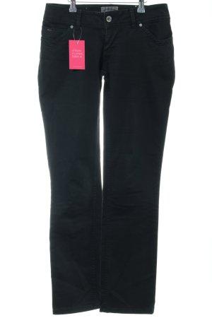 Hilfiger Denim Lage taille broek zwart casual uitstraling