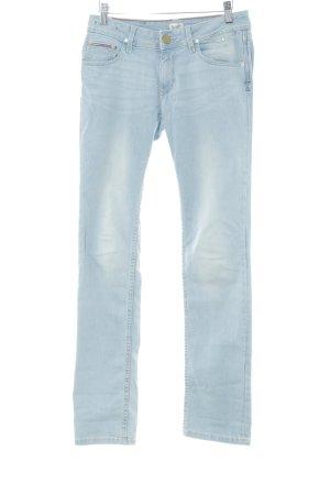 Hilfiger Denim Pantalon taille basse bleu azur style décontracté