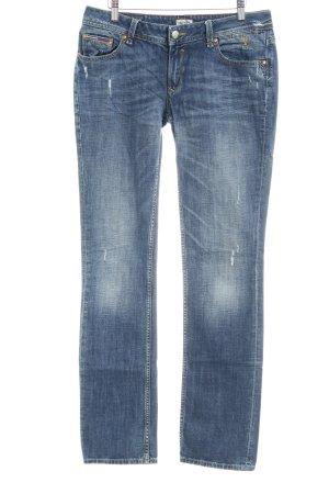 Hilfiger Denim Jeans vita bassa blu scuro stile casual