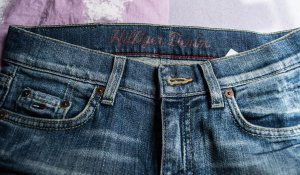 Hilfiger Denim Straight Leg Jeans dark blue cotton