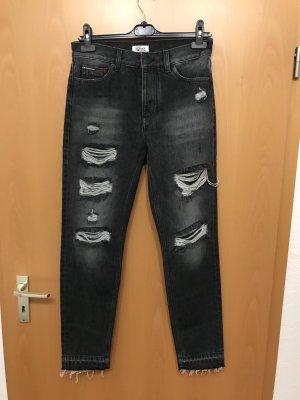 Hilfiger Denim Hoge taille jeans zwart