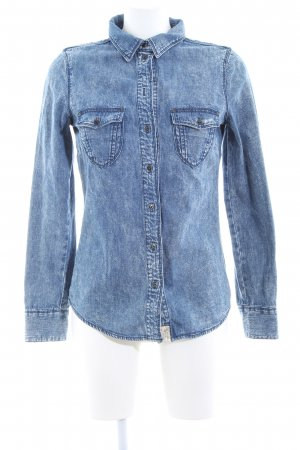Hilfiger Denim Jeansbluse blau Casual-Look