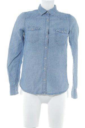 Hilfiger Denim Spijkershirt azuur casual uitstraling