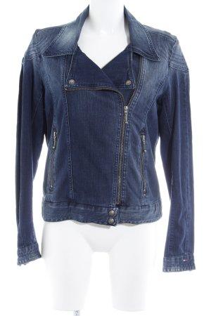 Hilfiger Denim Jeansjacke dunkelblau-wollweiß Used-Optik