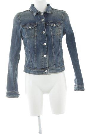 Hilfiger Denim Jeansjacke stahlblau Jeans-Optik