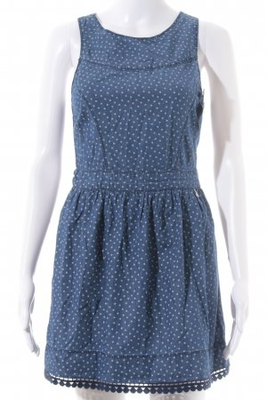 Hilfiger Denim Jeanskleid blau-weiß Herzmuster Casual-Look