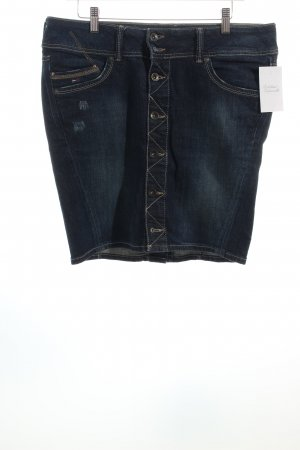 Hilfiger Denim Jeansrock dunkelblau Destroy-Optik