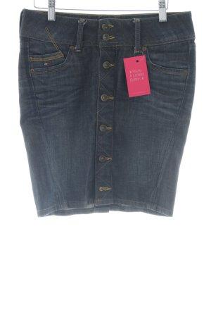Hilfiger Denim Denim Skirt dark blue flecked casual look