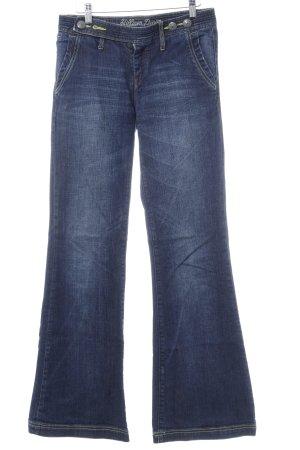 Hilfiger Denim Jeansschlaghose dunkelblau Casual-Look