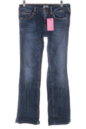 Hilfiger Denim Jeans a zampa d'elefante blu scuro-blu acciaio stile casual