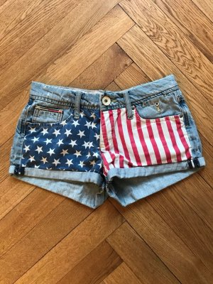 Hilfiger Denim Jeansshorts Hot Pants Amerika Flagge