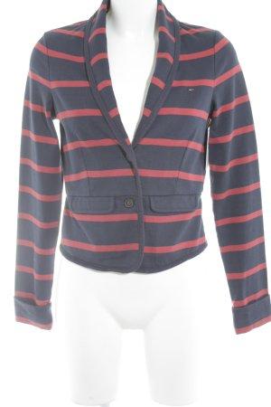 Hilfiger Denim Jerseyblazer dunkelblau-rot Streifenmuster Casual-Look