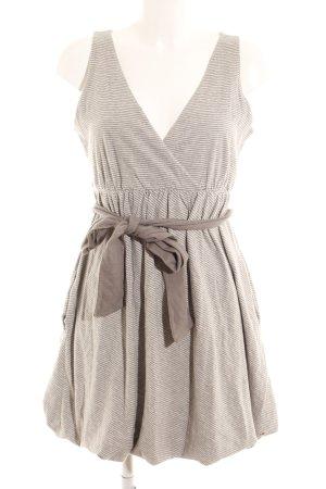 Hilfiger Denim Abito jersey grigio chiaro-grigio motivo a righe stile casual