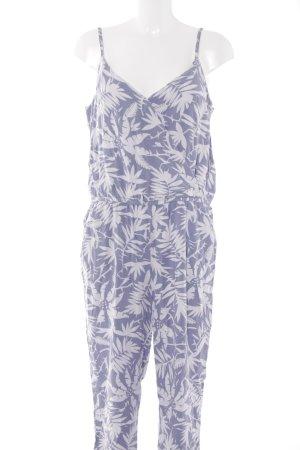 Hilfiger Denim Jumpsuit hellgrau-blassblau florales Muster Casual-Look