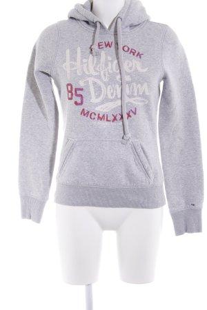 Hilfiger Denim Capuchon sweater gedrukte letters atletische stijl