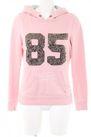 Hilfiger Denim Kapuzensweatshirt pink Schriftzug gedruckt Casual-Look