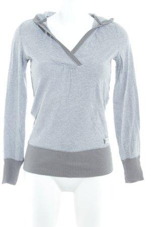 Hilfiger Denim Kapuzensweatshirt hellgrau-grau Streifenmuster Casual-Look