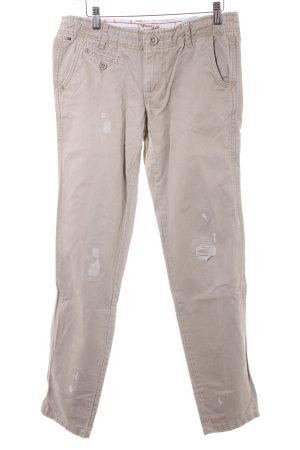Hilfiger Denim Pantalon fuselé beige style décontracté