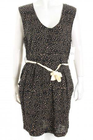 Hilfiger Denim Kleid schwarz-creme Allover-Druck Gypsy-Look