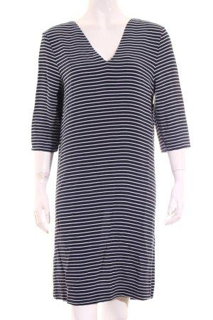 Hilfiger Denim Kleid weiß-dunkelblau Streifenmuster Elegant