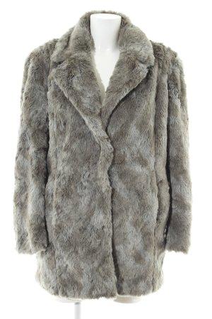 Hilfiger Denim Fake Fur Coat light grey elegant