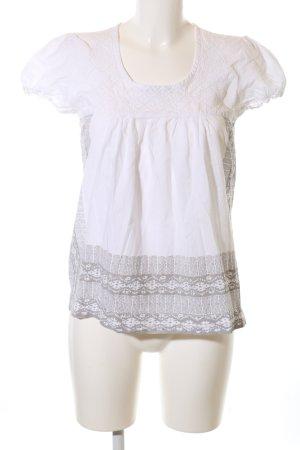 Hilfiger Denim Kurzarm-Bluse weiß abstraktes Muster Business-Look